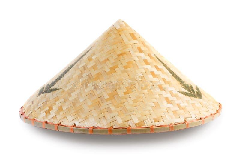 Konisk hatt för asiatisk bambu royaltyfri fotografi