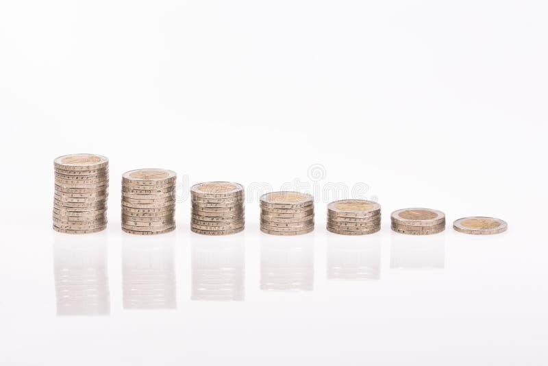 Konjunkturschwäche im Euroland lizenzfreies stockbild