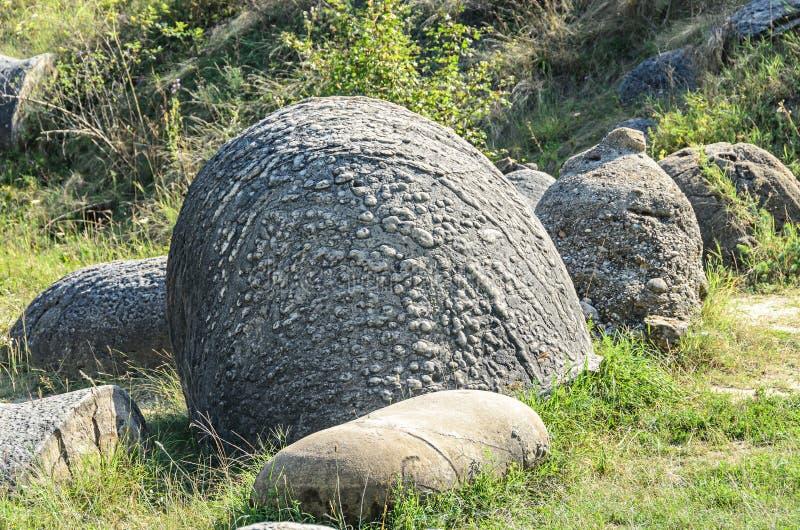 Konkrecja up, stary piasek narastający, trovant naturalny tworzący, cementowy, zdjęcia stock