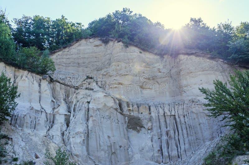 Konkrecja up, stary piasek narastający, trovant naturalny tworzący, cementowy, obraz stock