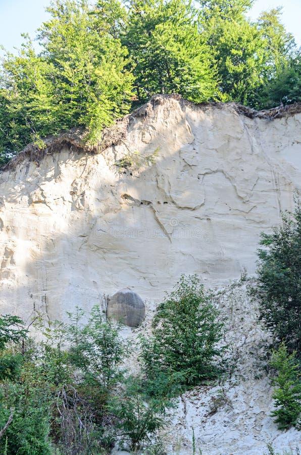 Konkrecja up, stary piasek narastający, trovant naturalny tworzący, cementowy, fotografia royalty free