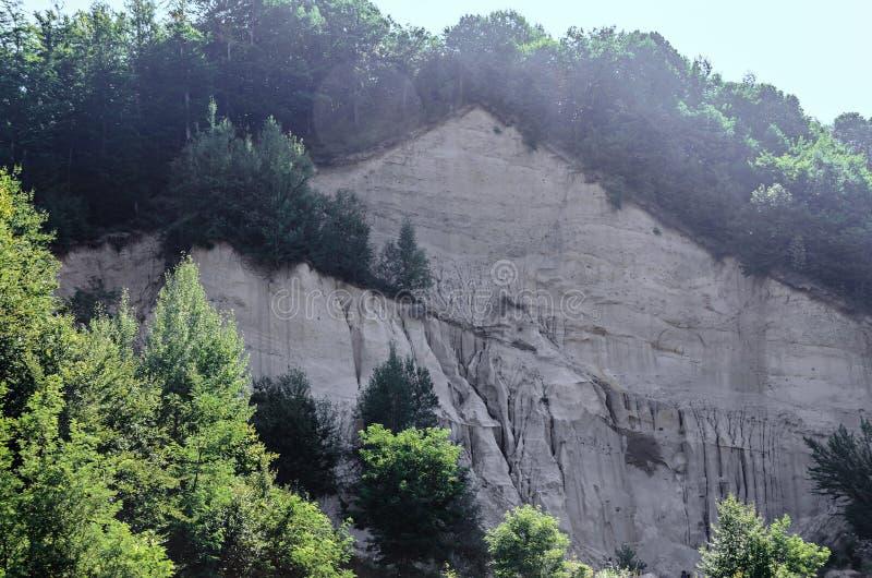 Konkrecja up, stary piasek narastający, trovant naturalny tworzący, cementowy, fotografia stock