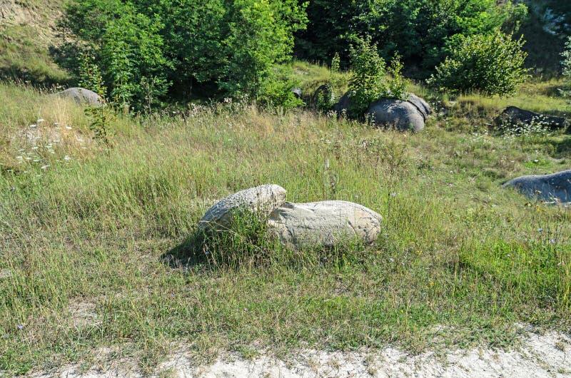 Konkrecja up, stary piasek narastający, trovant naturalny tworzący, cementowy, zdjęcie stock