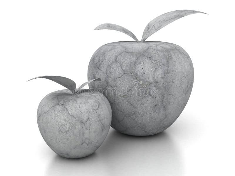 Download Konkret äpple För Sten På Vit Bakgrund Fotografering för Bildbyråer - Bild av isolerat, rock: 78731853