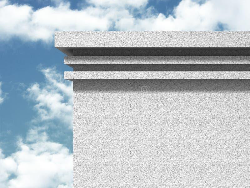 Download Konkret Abstrakt Arkitektur På Bakgrund För Molnig Himmel Stock Illustrationer - Illustration av öppet, bygger: 78729520