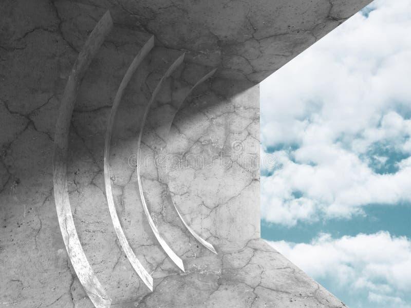 Download Konkret Arkitekturbakgrund Modern Desig För Abstrakt Byggnad Stock Illustrationer - Illustration av grått, begrepp: 78729001