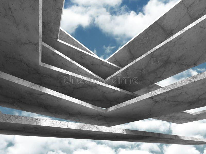 Download Konkret Arkitekturbakgrund Modern Desig För Abstrakt Byggnad Stock Illustrationer - Illustration av gods, kolonner: 78729173