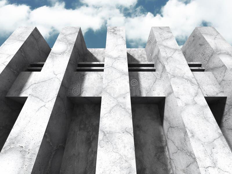 Download Konkret Arkitekturbakgrund Modern Desig För Abstrakt Byggnad Stock Illustrationer - Illustration av geometriskt, illustration: 78729233