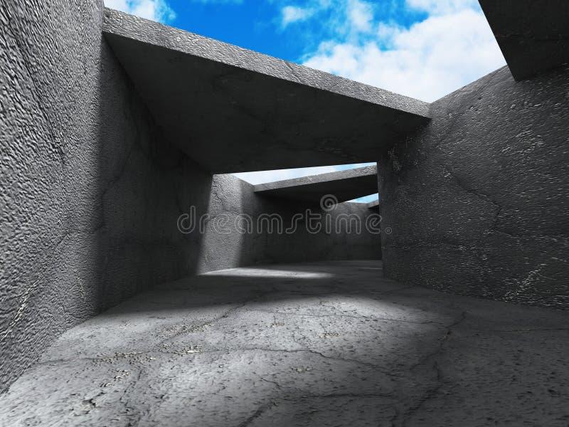 Download Konkret Arkitekturbakgrund Modern Desig För Abstrakt Byggnad Stock Illustrationer - Illustration av bygger, oklarheter: 78729602