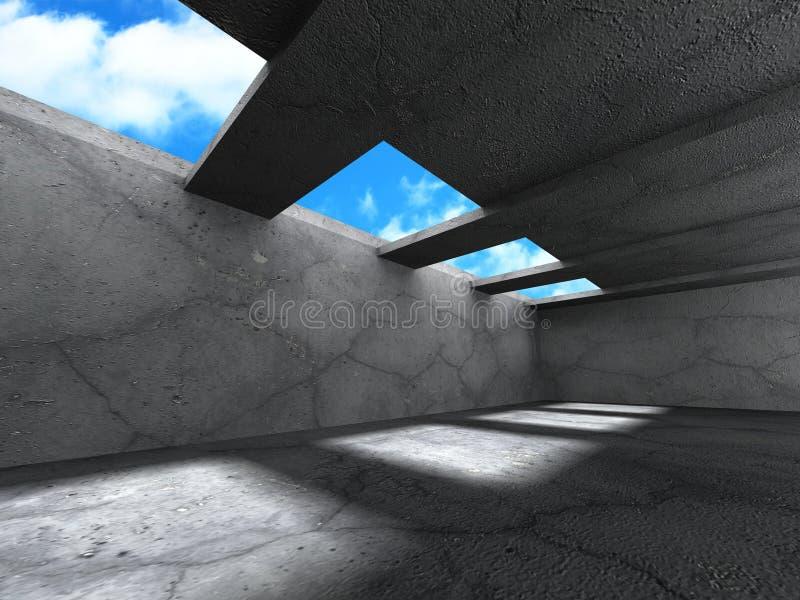 Download Konkret Arkitekturbakgrund Modern Desig För Abstrakt Byggnad Stock Illustrationer - Illustration av inre, glöd: 78729926
