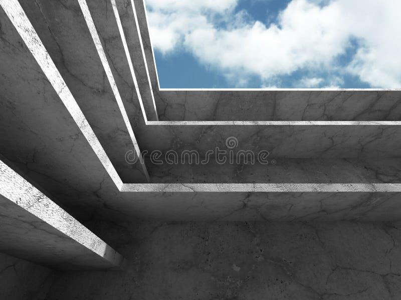Download Konkret Arkitekturbakgrund Modern Desig För Abstrakt Byggnad Stock Illustrationer - Illustration av brigham, kolonner: 78731416