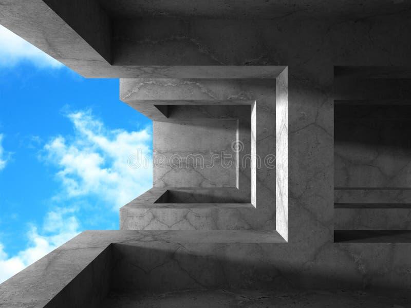 Download Konkret Arkitekturbakgrund Tom Inre Lokal Stock Illustrationer - Illustration av bekvämt, golv: 78729243