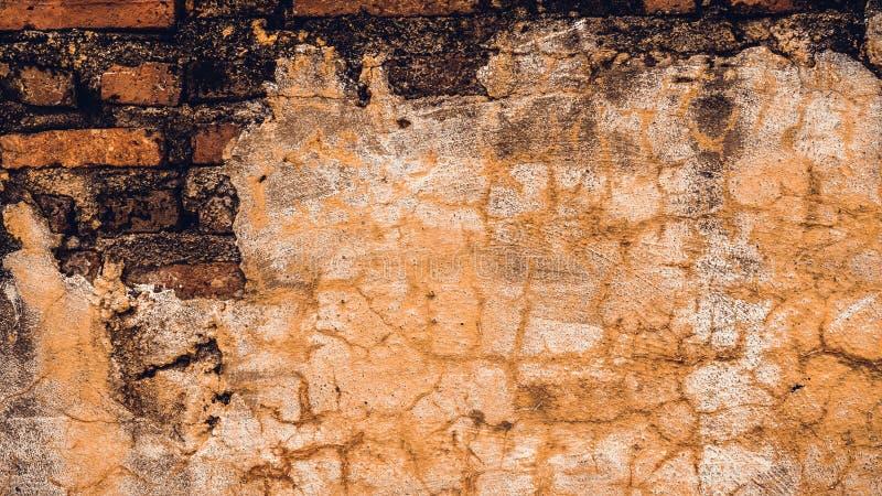 Konkret grungetegelstenvägg arkivfoton