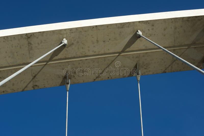 konkret modernt för bro royaltyfri fotografi