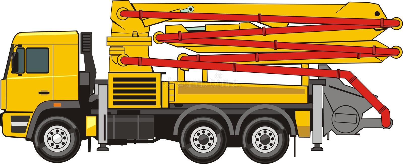 konkret pump royaltyfri illustrationer
