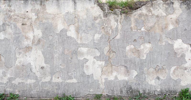 konkret riden ut texturvägg royaltyfria bilder