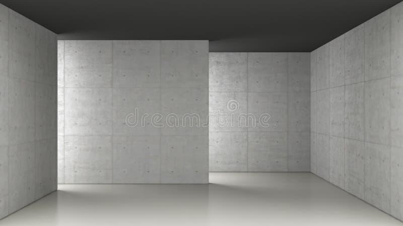 Konkret rum vektor illustrationer