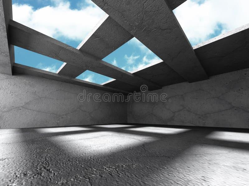 Download Konkret Stads- Tömmer Ruminre Med Takfönster Stock Illustrationer - Illustration av golv, grått: 78729693