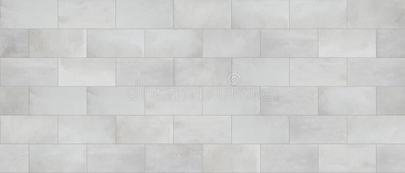 Konkret tegelplatta, cladding för vägg för askakvarter, sömlös textur royaltyfri illustrationer