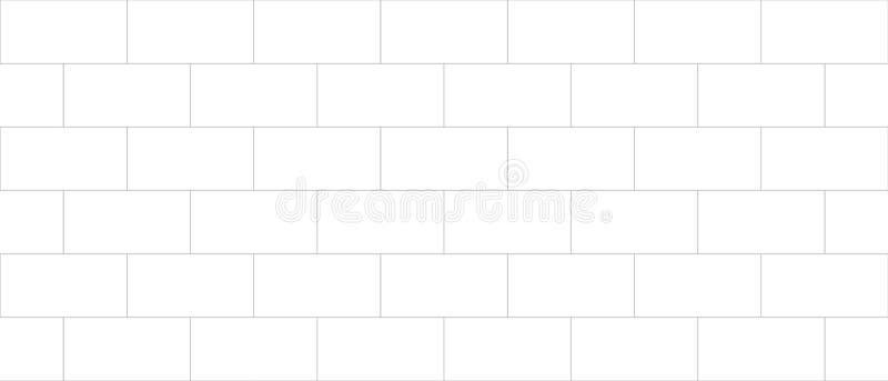 Konkret tegelplatta, cladding för vägg för askakvarter, sömlös texturbula royaltyfri illustrationer