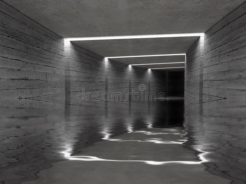 konkret tunnel för bakgrund royaltyfria foton