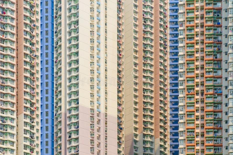 Konkreta djungler av Hong Kong arkivbild