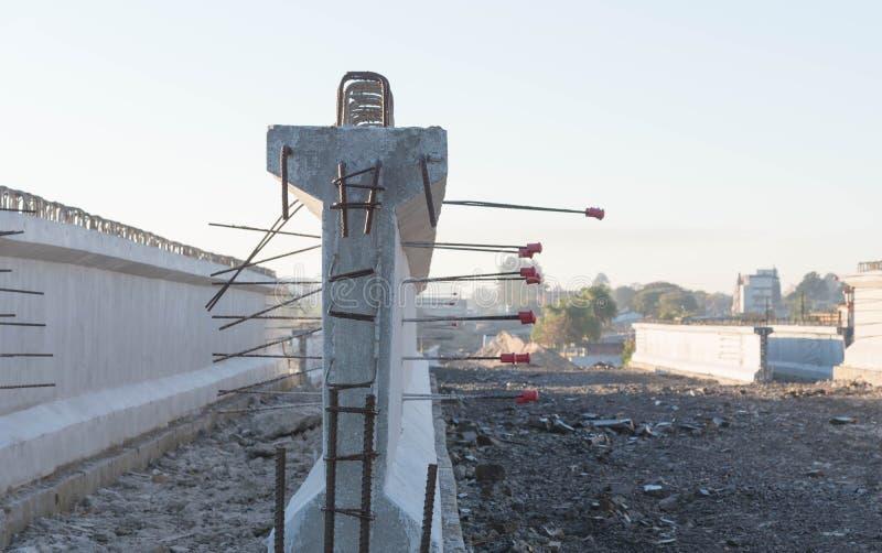 Konkrete Strahlen für Straßenviadukt 2 lizenzfreie stockfotografie