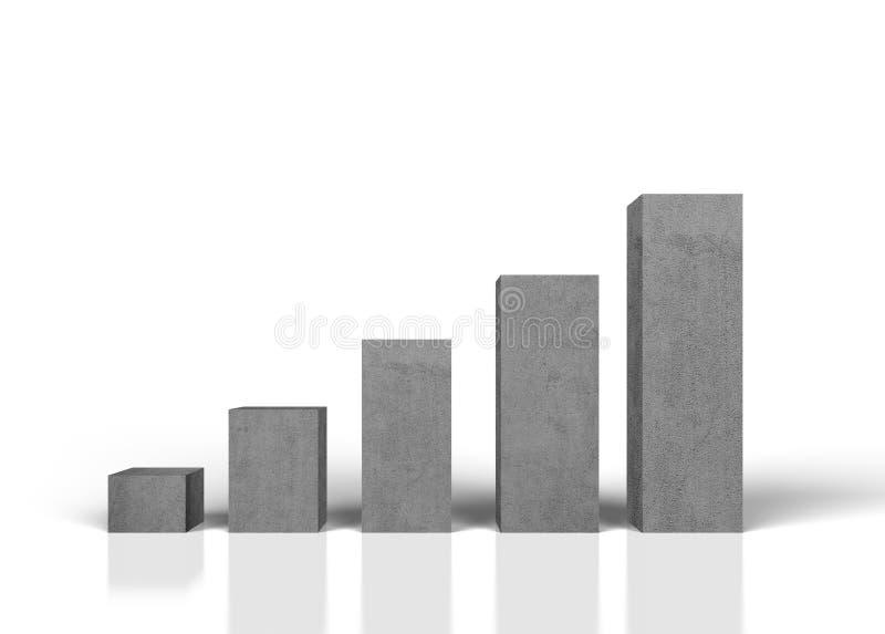 Konkrete Wachstumstabelle vektor abbildung
