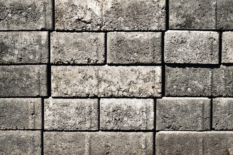 Konkrete Ziegelsteine des Details gestapelt stockfotografie