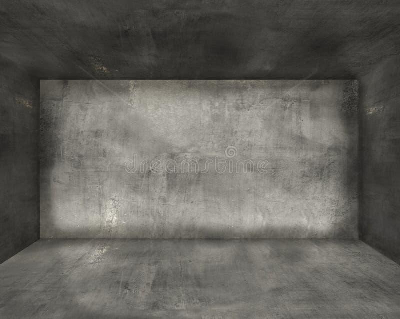 Konkreter Rauminnenraum stockbilder