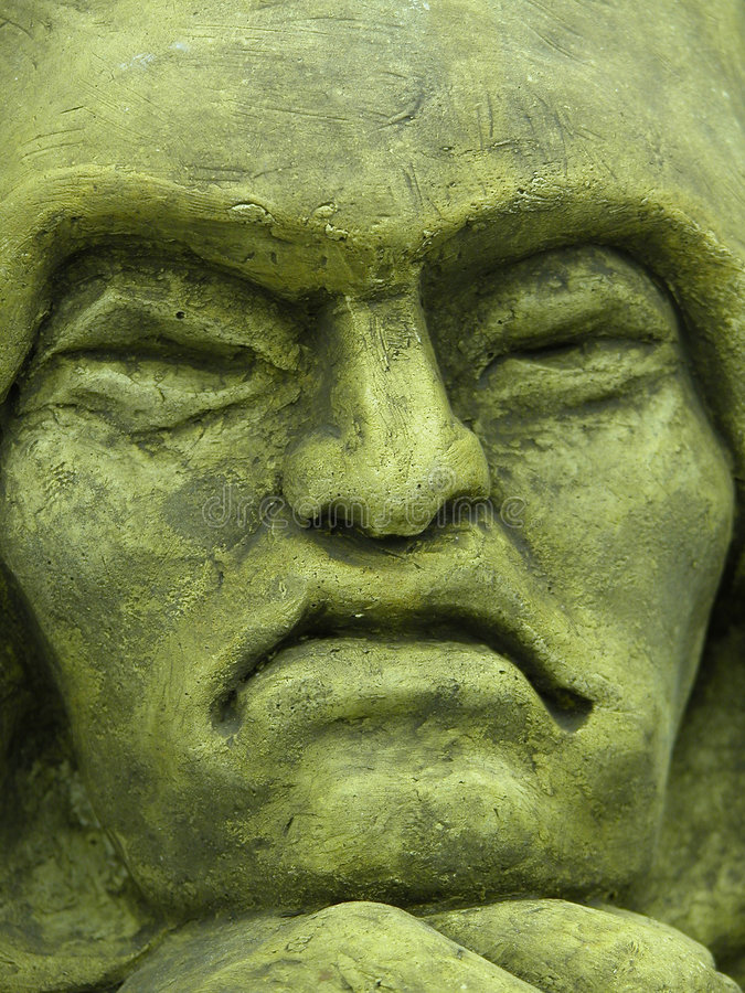 Konkretes Gesicht lizenzfreies stockbild