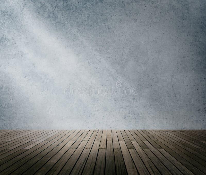 Konkretes Raum-Ecken-Schatten-Sonnenlicht-Tapeten-Konzept lizenzfreie abbildung