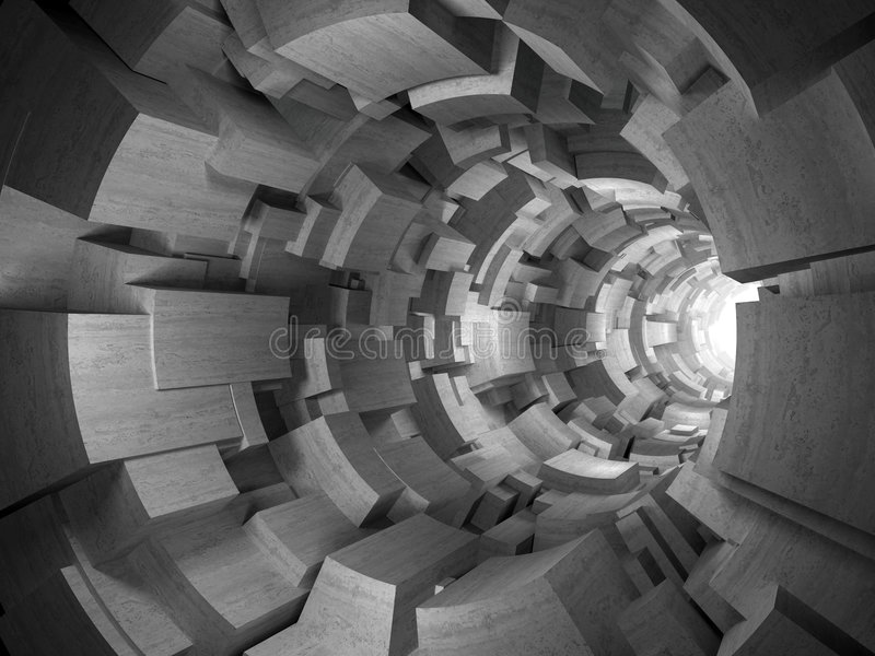 konkretne tunel 3 d ilustracji
