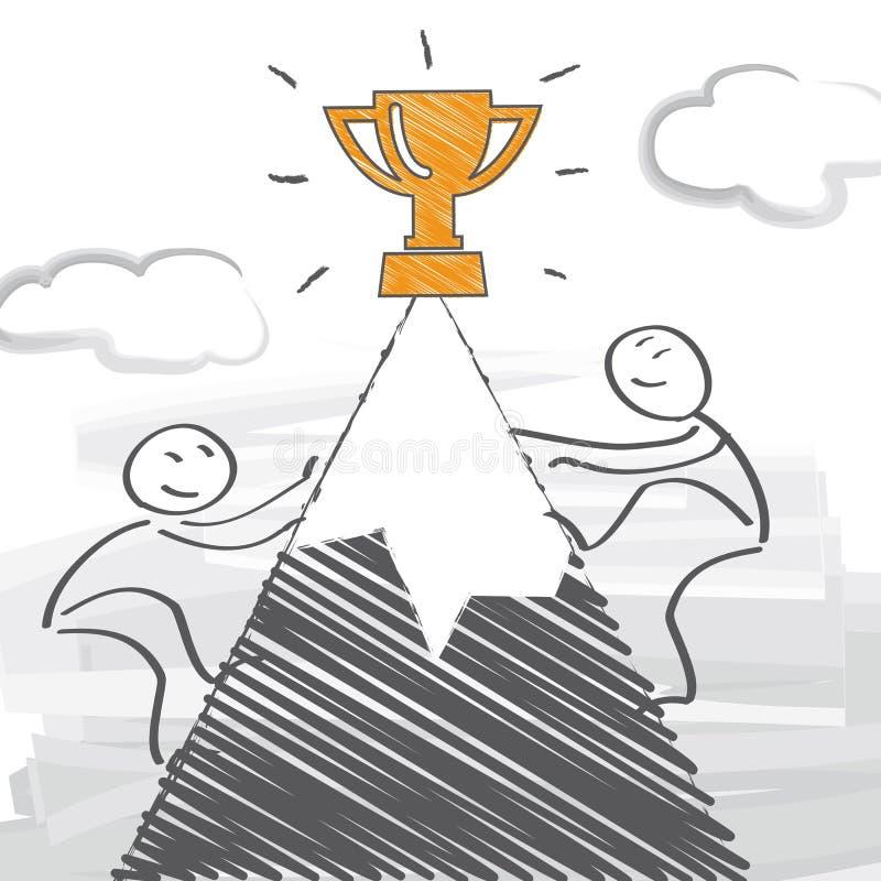 konkurenci ilustracja wektor