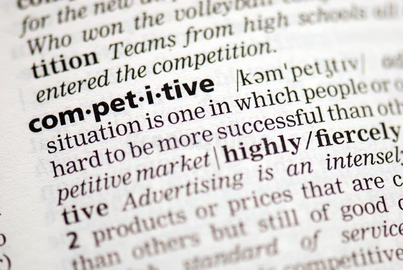 konkurencyjna definicja zdjęcie royalty free