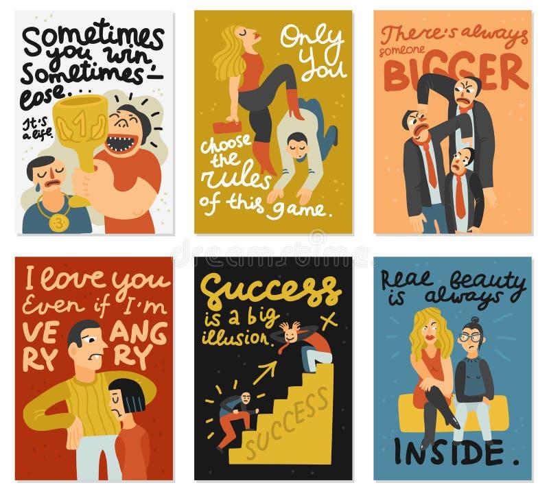 Konkurencyjne karty Ustawiać ilustracja wektor