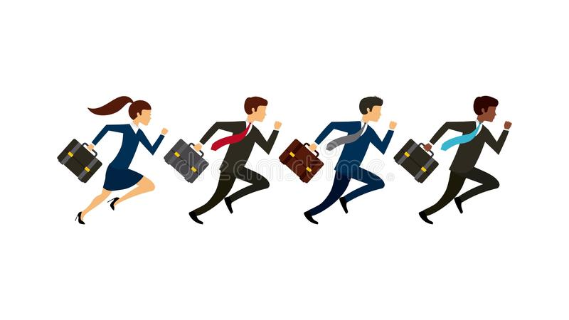 konkurencyjny biznesowy projekt ilustracja wektor