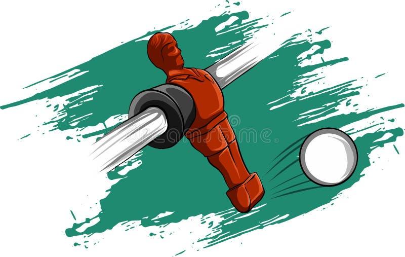 Konkurrens för fotboll för tabell för spelare för vektorillustration röd stock illustrationer