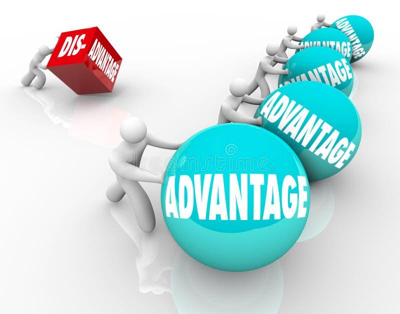 Konkurrensfördellopp Team Vs Lone Competitor stock illustrationer
