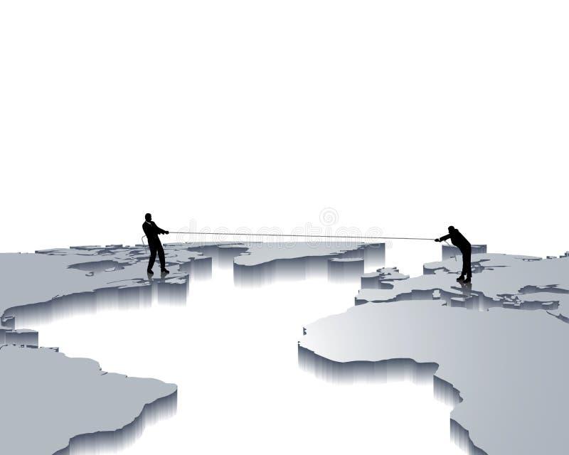 konkurrenskraftig strid vektor illustrationer