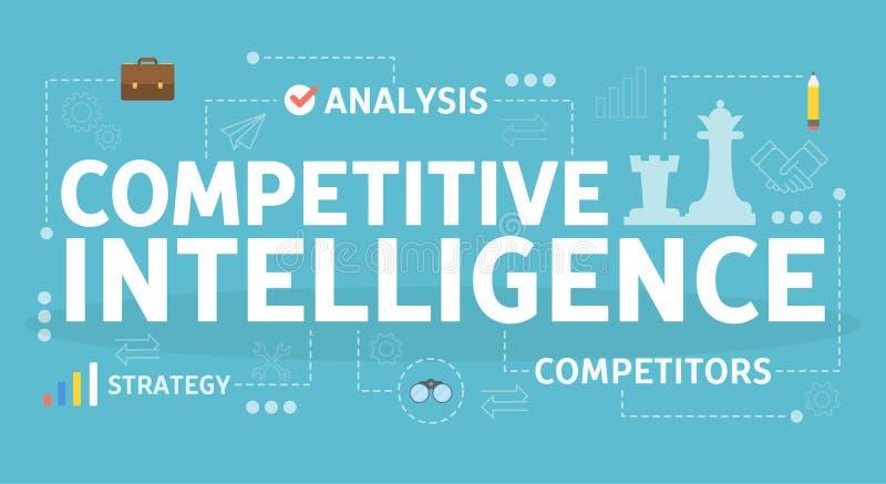 Konkurrenskraftigt intelligensbegrepp Idé av affärsorganisationen royaltyfri illustrationer