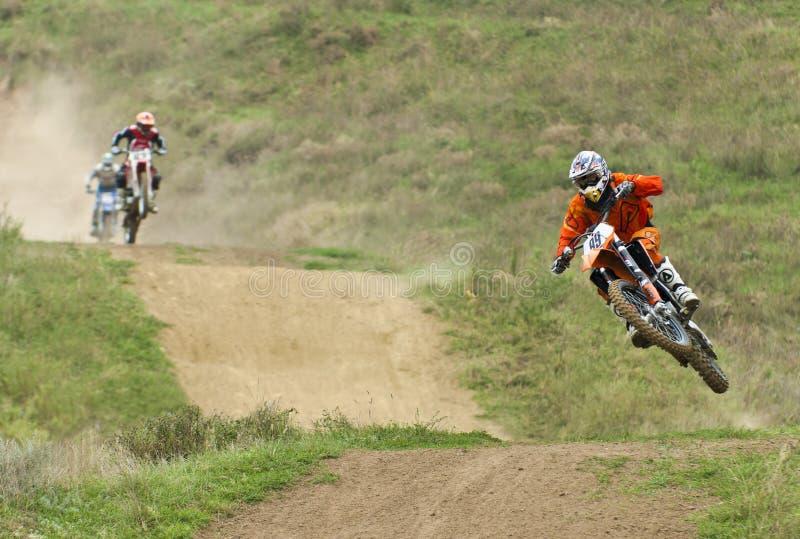 konkurrensmotocross royaltyfria foton