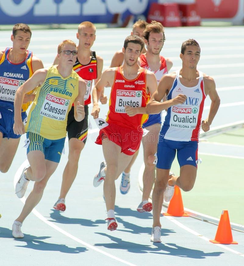 Konkurrenten der 800m Männer stockfotografie