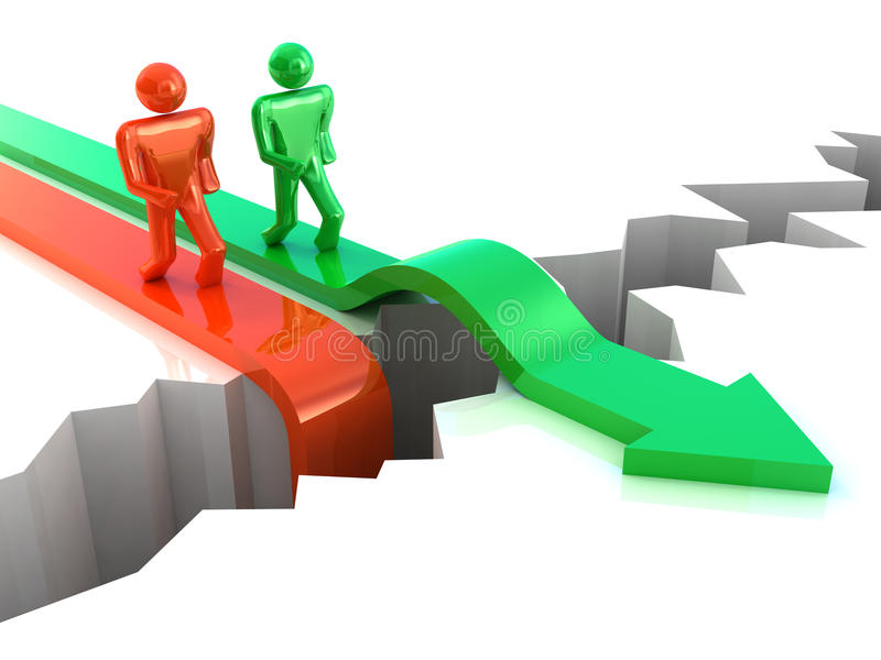 Konkurrenzkonzept stock abbildung