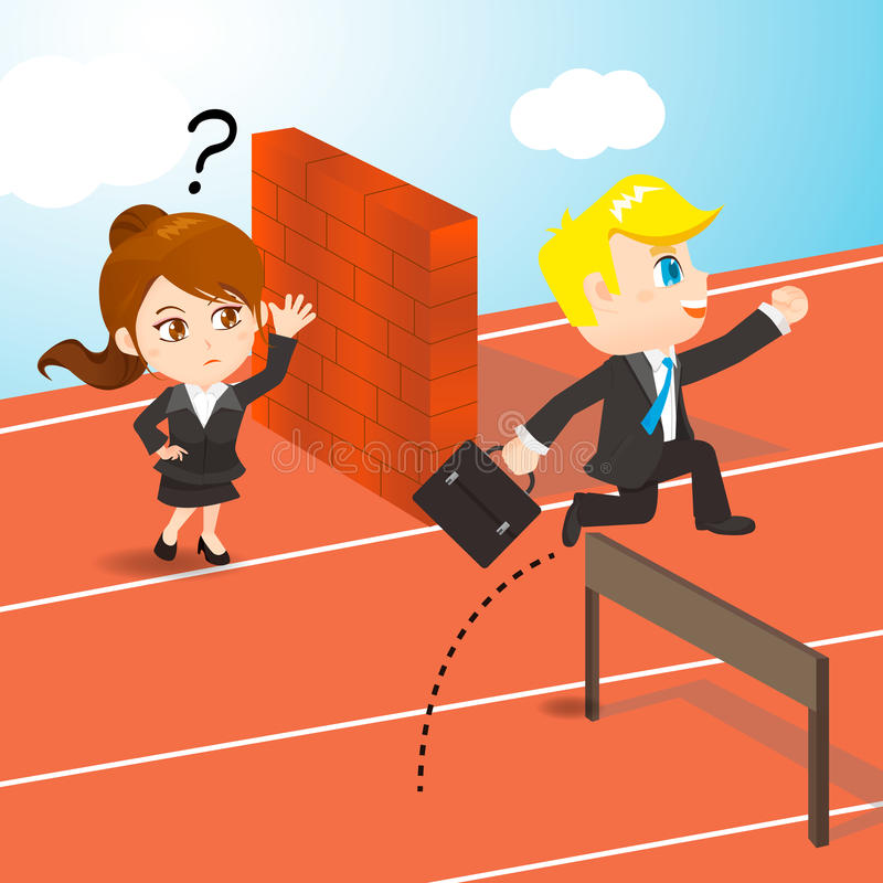 Konkurrera för Businesspeople vektor illustrationer