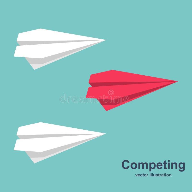 Konkurrieren für Erfolgsvektor vektor abbildung