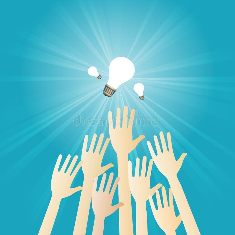 Konkurrieren für Ideen stock abbildung