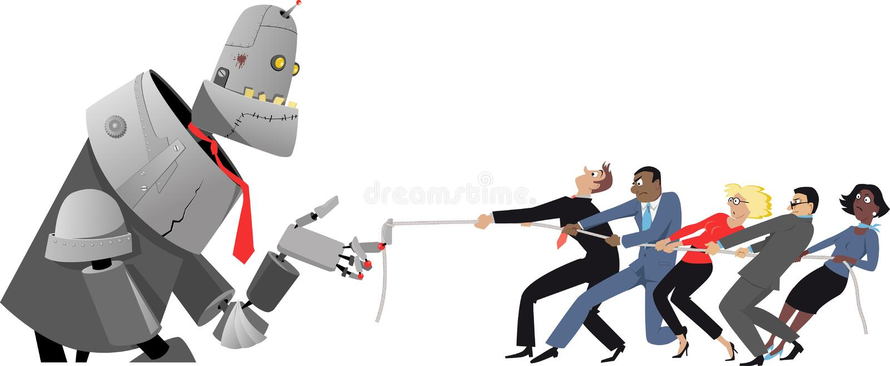 Konkurrieren mit AI stock abbildung