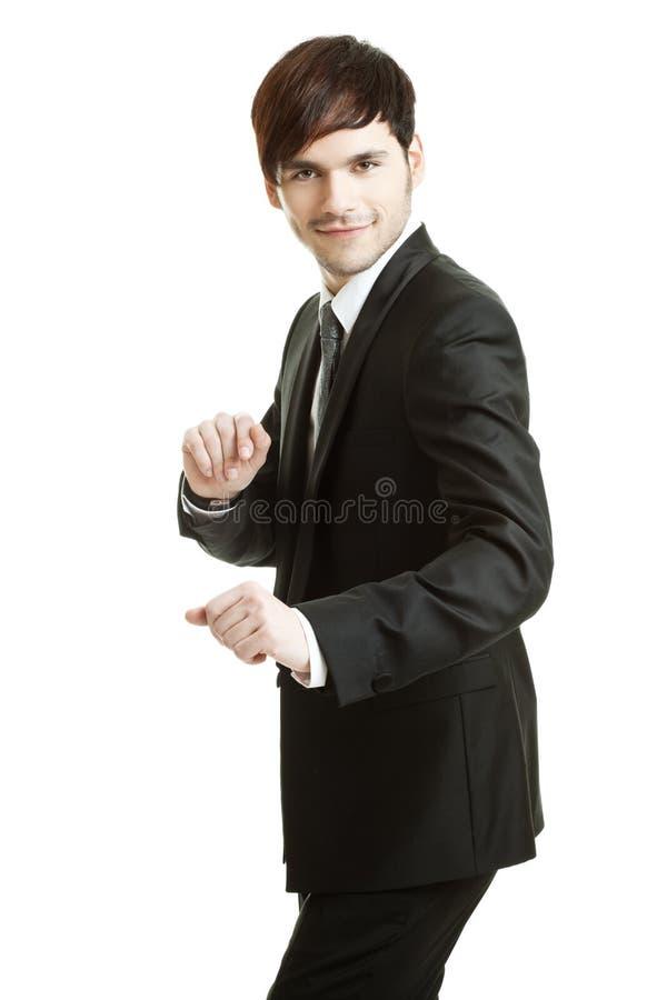 Konkurrierender Geschäftsmann stockbilder