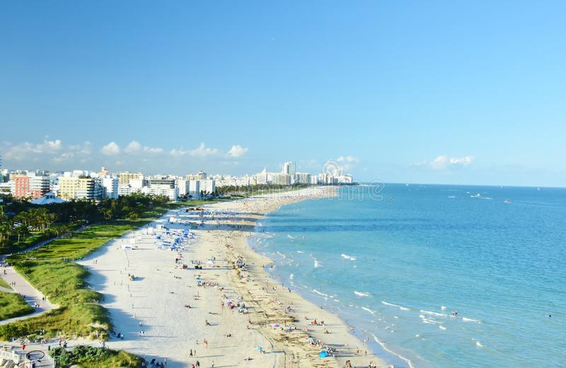 Konkurriert vom Miami Beach Florida USA, das vom Kreuzschiff genommen wird lizenzfreie stockfotos